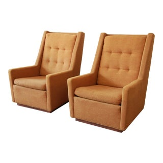 Lounge Chairs and Ottoman by Milo Baughman for James, Inc 'Articulate Seating' - a Pair For Sale