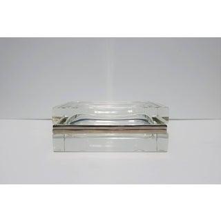 Modern Italian Murano Clear Art Glass Mandruzzato Designer Box Preview