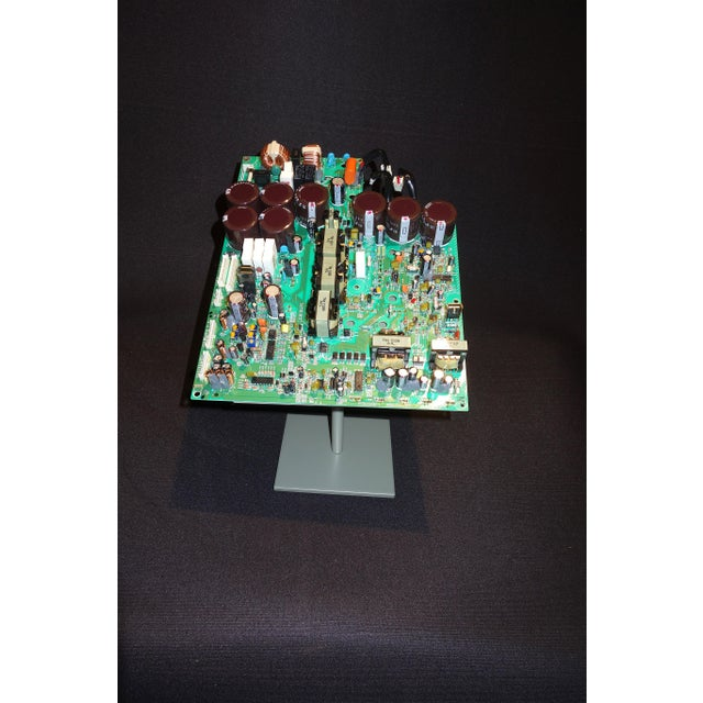 Industrial Component Art Sculpture of Mid 20th Century Video Processing Circuitry For Sale - Image 3 of 7