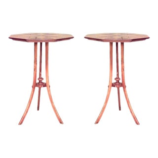 Swedish Biedermeier Birch End Tables - a Pair For Sale
