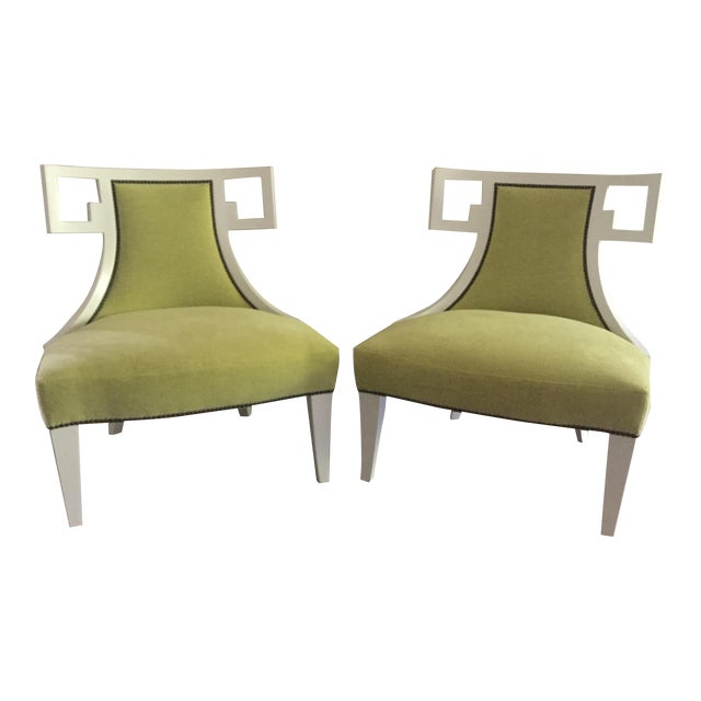 susan kotora for baker furniture neo classical chairs a pair