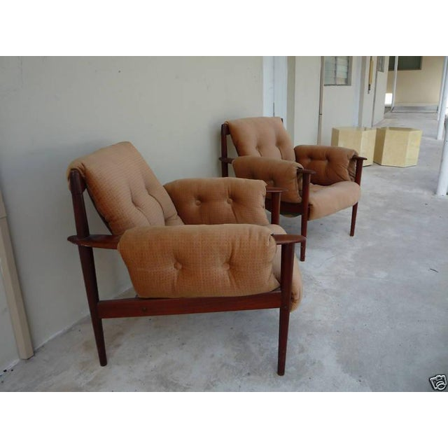 1950s 1950's Vintage Greta Jalk & Poul Jeppesen Chairs- A Pair For Sale - Image 5 of 11