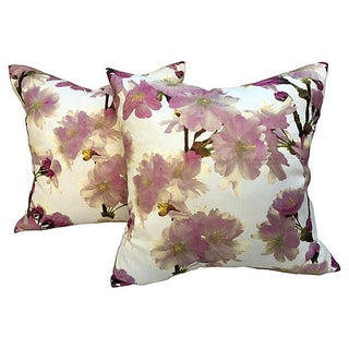 Floral Pillows - Pair For Sale