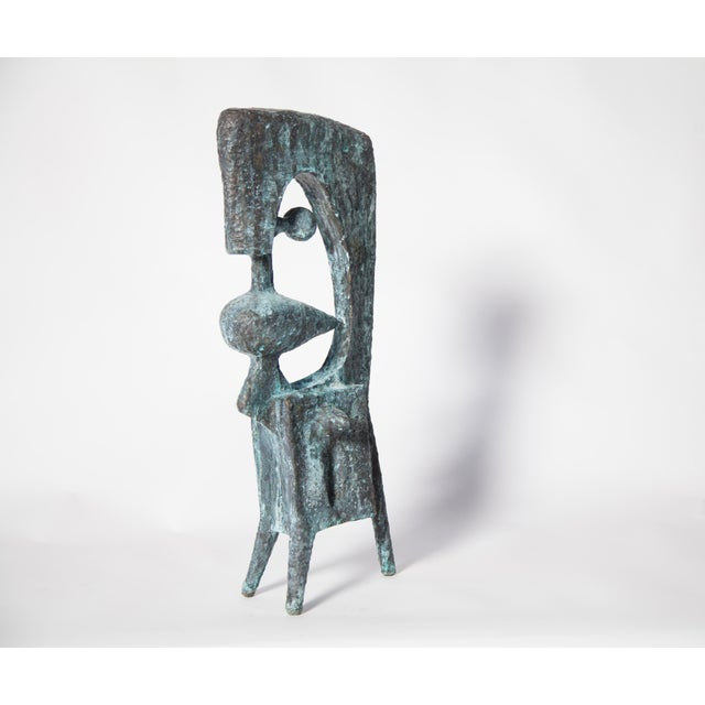 Contemporary bronze sculpture done by New York based Sculptor, BJ Las Ponas. To create a piece, Las Ponas cuts sheets of...