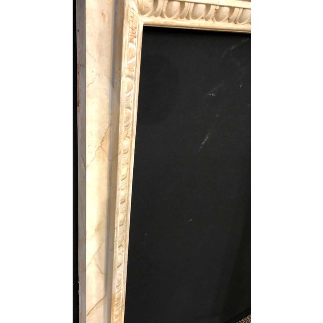 Swedish Painted and Distressed Decorated Fire Surround in Faux Marble Finish For Sale - Image 10 of 13