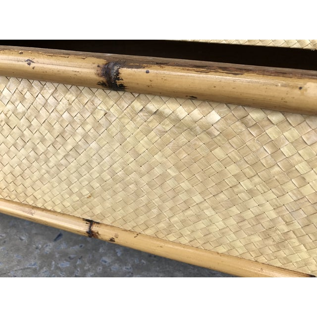 Calif-asia Vintage Rattan Chest of Drawers For Sale - Image 10 of 11