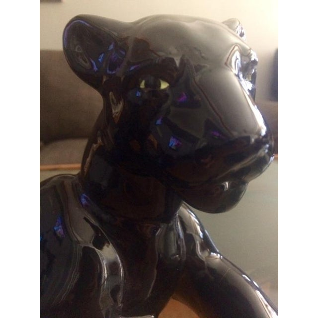 Art Deco Black Jaguar Figure - Image 7 of 7