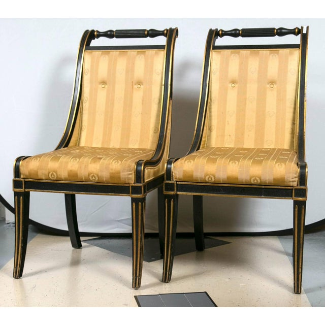 John Stuart Saber Leg Dining Chairs - Set of 6 - Image 2 of 9