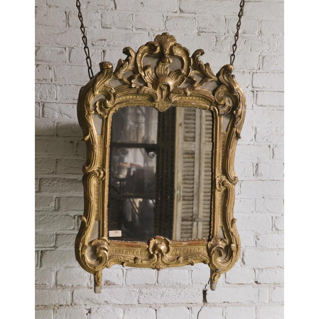 Gold 18th Century, Louis XV Mirror For Sale - Image 8 of 10