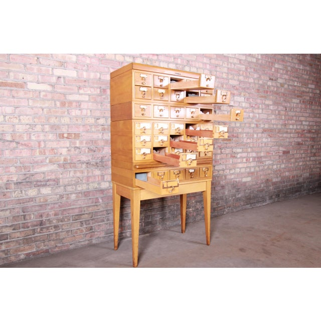 Mid-Century Modern 35-Drawer Library Card Catalog by Remington Rand For Sale - Image 10 of 13