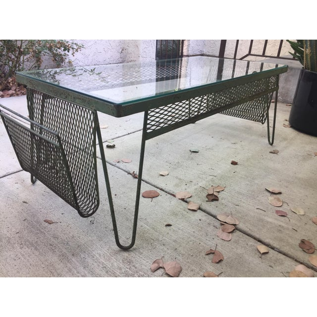 Glass Unique Iron & Glass Mid-Century Modern Outdoor Indoor Patio Coffee Table For Sale - Image 7 of 12