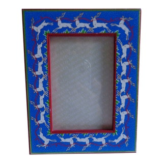 Vintage Tiffany & Co. Reindeer Holiday Picture Frame For Sale