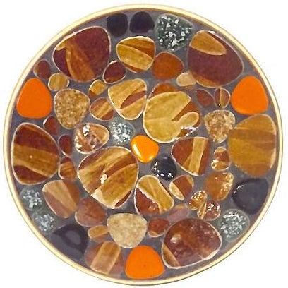 Mid-Century Modern Mosaic Tile Dish - Image 1 of 3