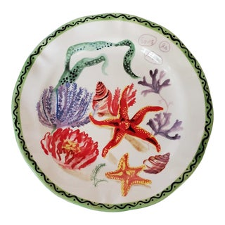 Vintage Nathalie Lete Starfish Stoneware Dinner Plate French For Sale
