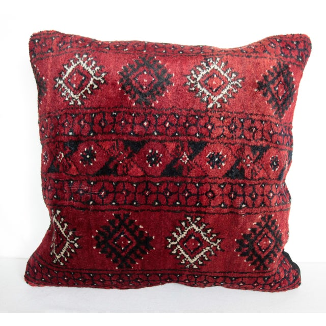 Boho Chic Carpet Pillow For Sale - Image 11 of 11