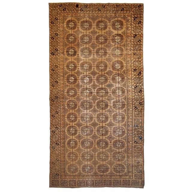 1900s Handmade Antique Uzbek Khotan Rug 6.2' X 12.10' For Sale - Image 10 of 10