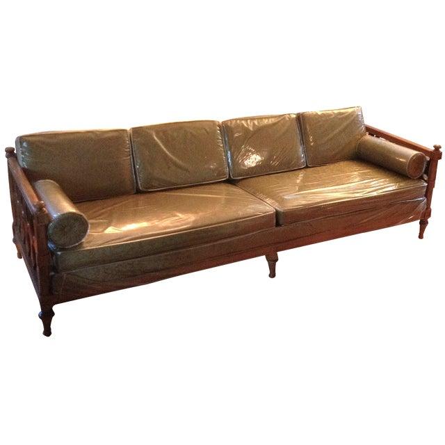 American of Martinsville Burl Panel Arm Sofa - Image 2 of 10