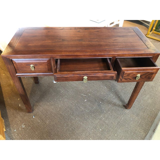 Ming Style Walnut Writing Desk For Sale - Image 4 of 7