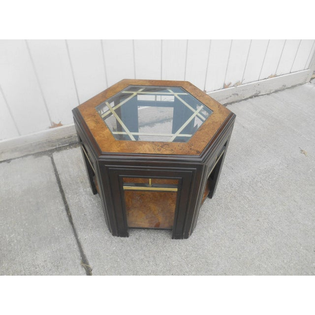 Brown Mid-Century Modern Milo Baughman Style Coffee/ End Table Set - 2 Pc. For Sale - Image 8 of 11
