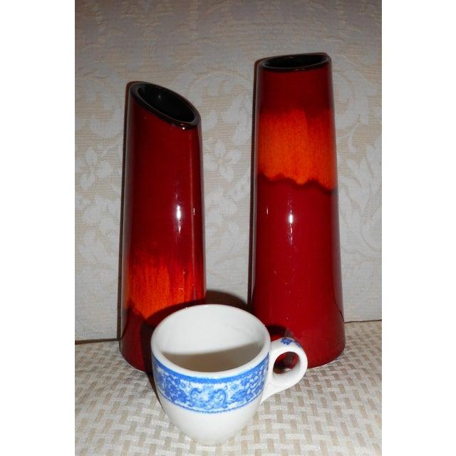 Vintage Poole Pottery Vases A Pair Flame Glaze England Chairish