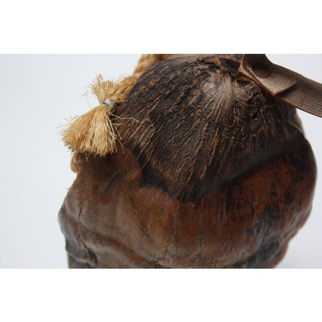 Whimsical Folk Art Coconut Owl Sculpture For Sale - Image 4 of 13