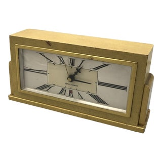 """Mid-Century Electric Wood Clock by """"Seth Thomas"""" For Sale"""
