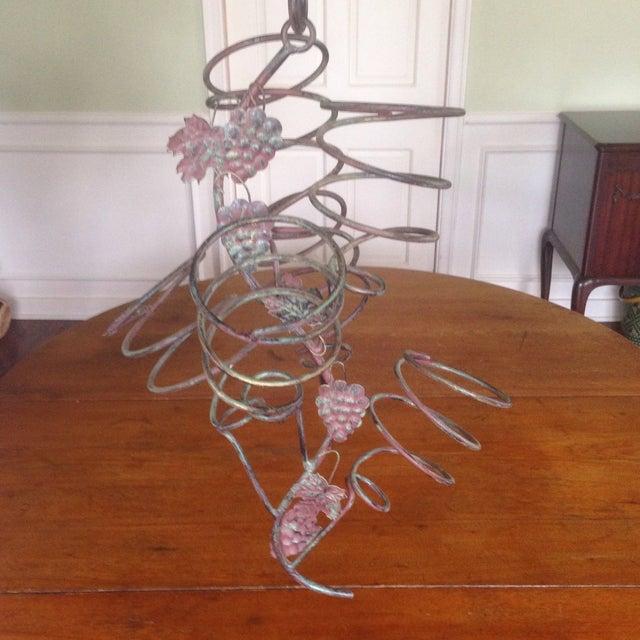 Vintage Metal Hanging Bottle Tree - Image 9 of 11