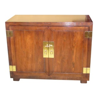 Campaign Henredon Wood Cabinet/Nightstand For Sale