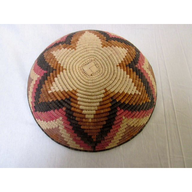 Hand Woven Natural Fiber Large Basket - Image 5 of 6