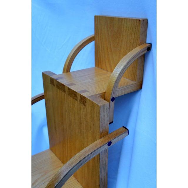 1970s Vintage Handmade Step Leaning Shelf For Sale In Washington DC - Image 6 of 12