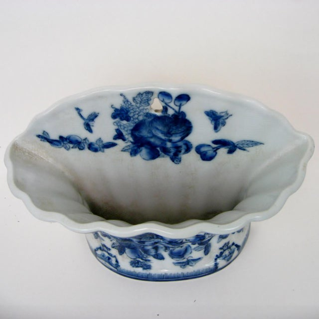 Blue & White Porcelain Wall Pocket Planter - Image 4 of 7