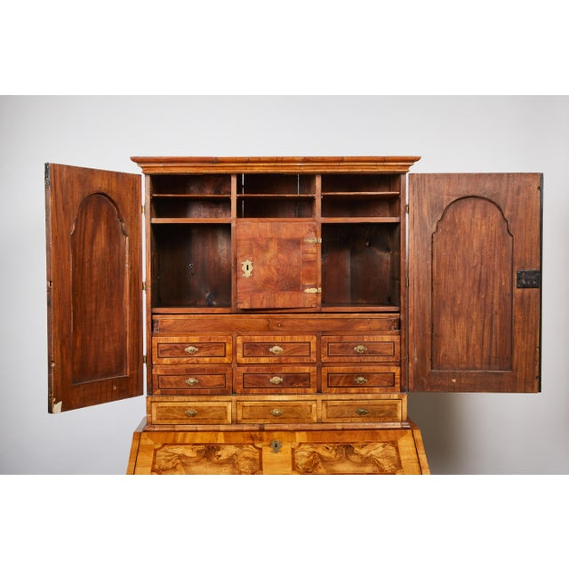 Late 17th Century Northern European Walnut Secretary For Sale In Los Angeles - Image 6 of 10