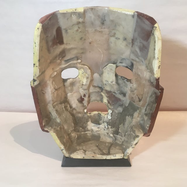 Mid-Century Handmade Mother of Pearl Mask For Sale In Kansas City - Image 6 of 9