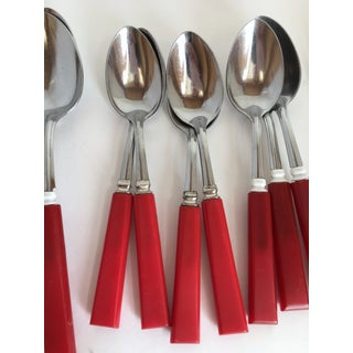 Mid Century Red Bakelight Silverware Collection Preview