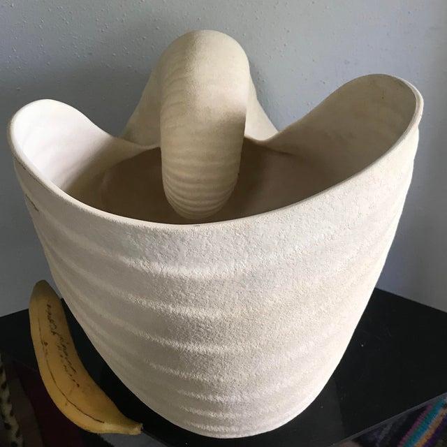 Giant Ceramic Nautilus Sea Shell Floor Vase For Sale - Image 4 of 9
