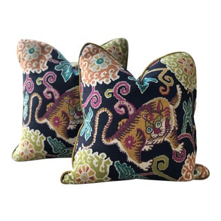 "Chinese Custom-Made Pillows - Pair, 18"" For Sale"