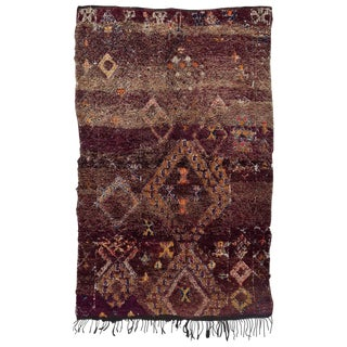 Vintage Moroccan Beni M'guild Rug - 6′3″ × 9′10″ For Sale