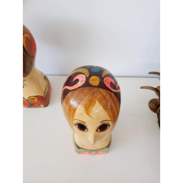 1960s 1960s Faux Italian Ceramic Bust For Sale - Image 5 of 7