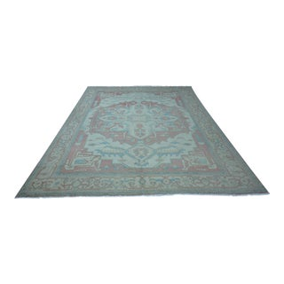 Turkish Anatolian Modern & Decorative Oushak Rug - 10′2″ × 14′1″