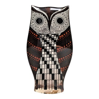 1980s Mid-Century Modern Abraham Palatnik Signed Owl Sculpture