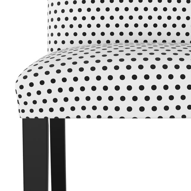 Spritely Home Dining Chair in Polka Dot White Oga For Sale - Image 4 of 7