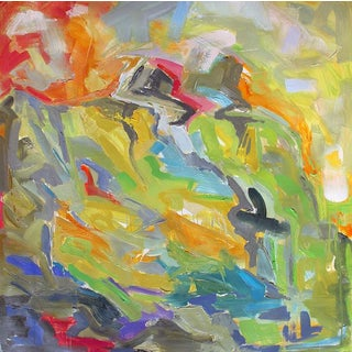 """Mountain Morning"" by Trixie Pitts Large Abstract Oil Painting For Sale"