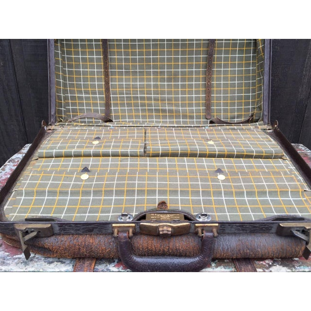 Leather Strap Suitcase For Sale - Image 10 of 13
