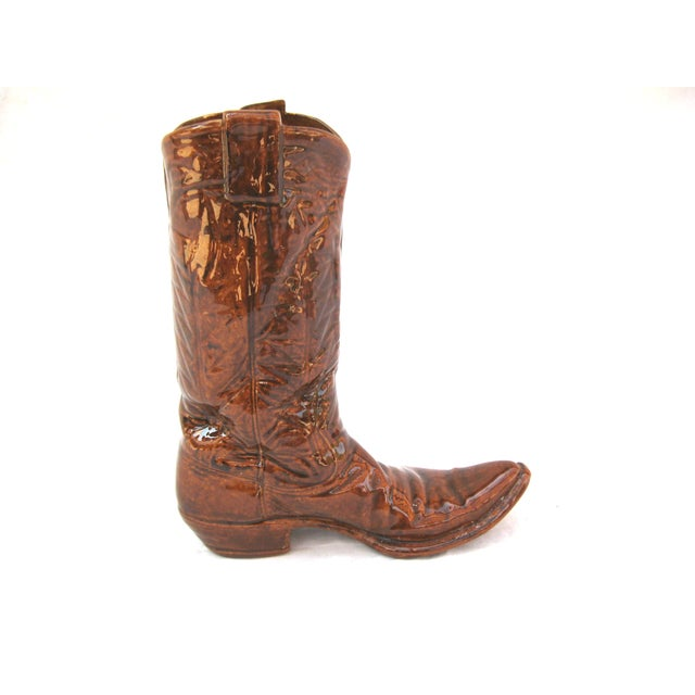 Vintage Ceramic Cowboy Boot Vase - Image 4 of 8