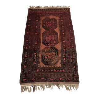 Early 20th Century Antique Afghan Esrari Rug - 3′7″ × 6′1″ For Sale
