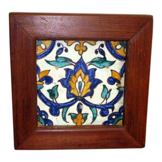 Vintage Mexican Talavera Tile For Sale