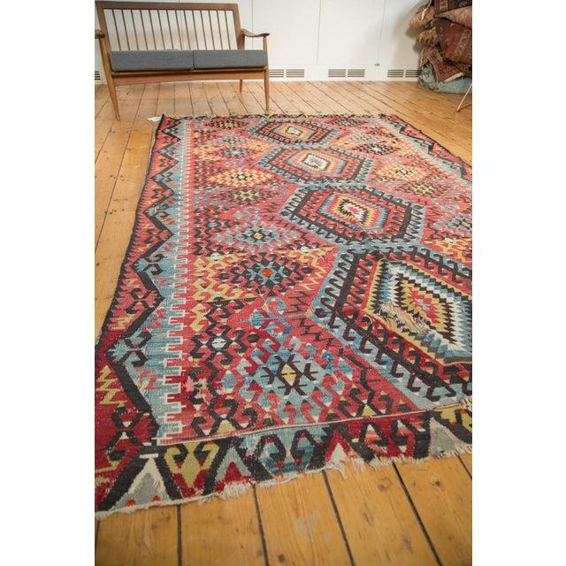 "Antique Kilim Carpet - 6'1"" x 9'1"" For Sale - Image 9 of 10"
