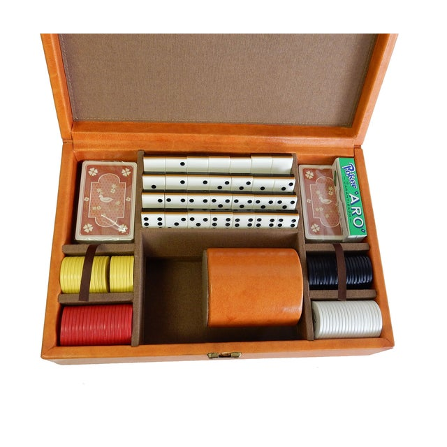 Rare Herman Miller Leather Case Poker Game/Domino - Image 3 of 9