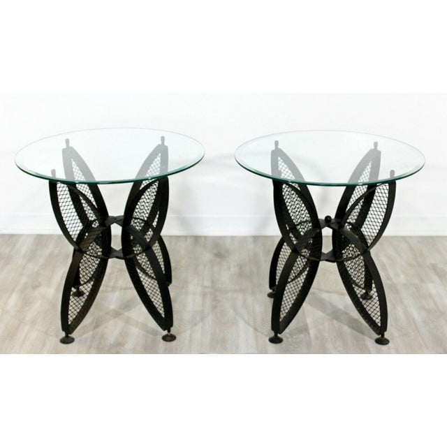 Mid Century Modern Tempestini Salterini Butterfly Patio Pair Side Tables 1960s For Sale In Detroit - Image 6 of 12