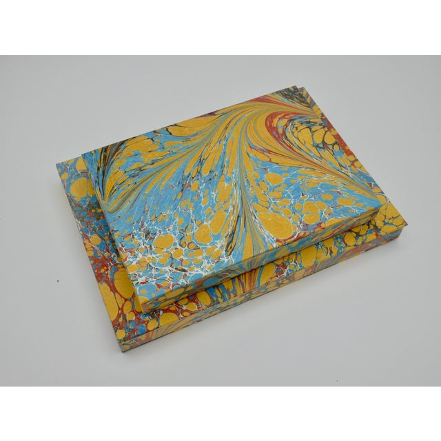 Cerulean Yellow & Blue Coptic Notebooks- a Pair For Sale - Image 8 of 12
